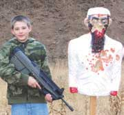 Shooting zombies is a lot of fun, especially when they're 3-D Bleeding Zombie Targets or Mutilating Zombie Targets from Zombie Industries, as S.W.A.T. Editor Denny Hansen's grandson austin knows. Nice shooting!