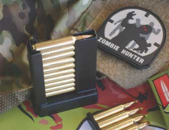 Thermold MC-SC-M-16/aR15 Magazine Charger. Zombie Hunter PVC Patch by Mil-Spec Monkey.