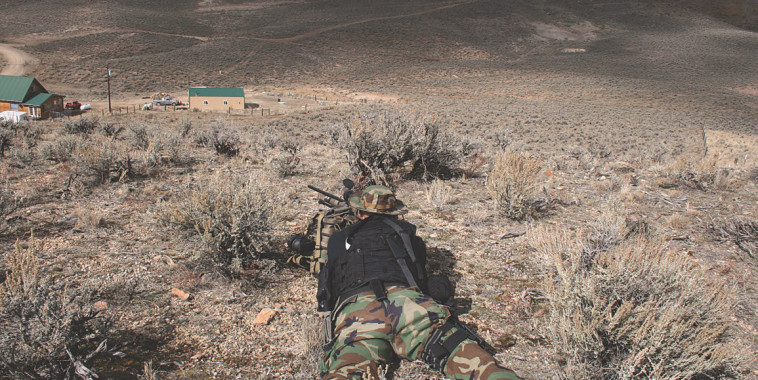 Urban snipers rarely fire over 100 yards and usually much closer. House shown here is 280 yards.