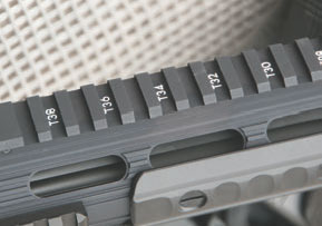 "Full-length rail is ""T"" marked."