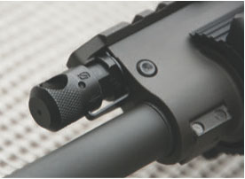 Rifle has four-position gas regulator marked 0-3.