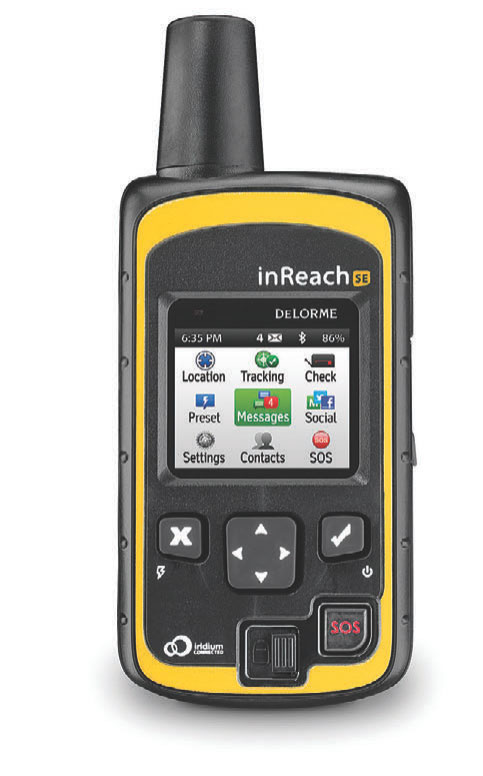 DeLorme inReach SE is a popular Satellite Emergency Notification Device. Photo: DeLorme