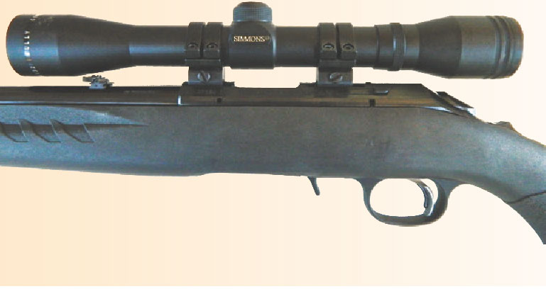 Simmons .22 Mag scope mounted in Weaver Quad Lock rings was used in the evaluation.