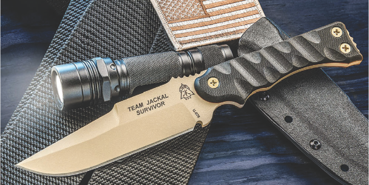 TOPS Team Jackal Survivor is a superb knife that is up to extreme duty. Photo: TOPS Knives