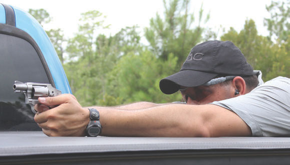 Hundred-yard shots were taken braced over a truck bed.