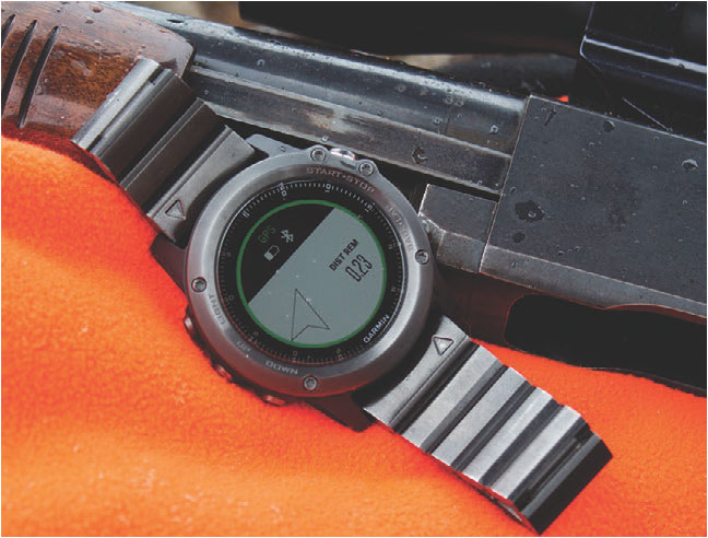 GPS features on Garmin Fenix 3 make it a great hunting companion during tracking.