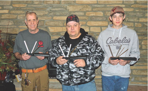 Denny, Flint and Austin Hansen: three generations of satisfied Spyderco customers with their Sharpmakers.